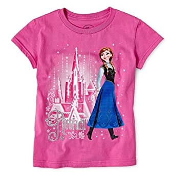Disney frozen girls sizes 2 8 anna t shirt m for Girls shirts size 8