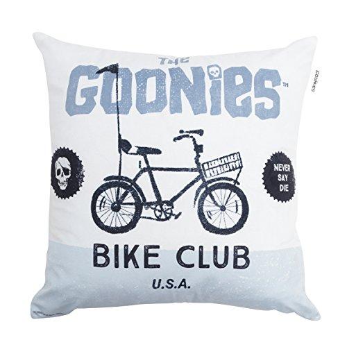 Capa de Almofada Poliéster Goonies Bike Club Urban Branco / Azul