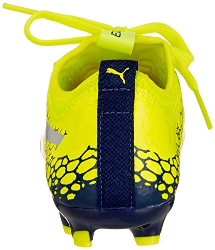Graphic Enfant Yellow De Football Puma Jr Depths safety blue Mixte silver Ag Chaussures 3 Evopower Jaune Vigor CwwOtvq