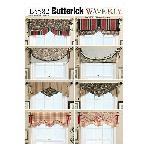 Window Valance Patterns - BUTTERICK PATTERNS B5582 Reversible Window Valance, One Size Only