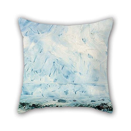 (TonyLegner Pillow Cases of Oil Painting August Strindberg - Flower by The Shore 20 X 20 Inches / 50 by 50 cm Best Fit for Club Bar Gril Friend Kids)