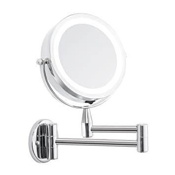Incroyable FIRMLOC Led Vanity Mirror Lighted 1X/5X Magnification Wall Mounted, Double  Side, Adjustable