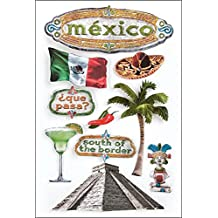 Paper House Productions STDM-0021E 3D Cardstock Stickers, Mexico