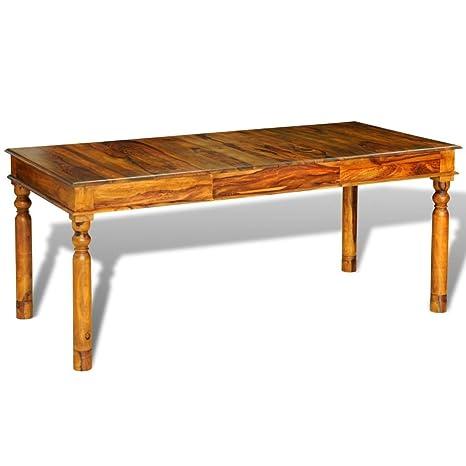 vidaXL Tavolo da Pranzo Legno Massello di Sheesham 180x85x76cm Stile ...