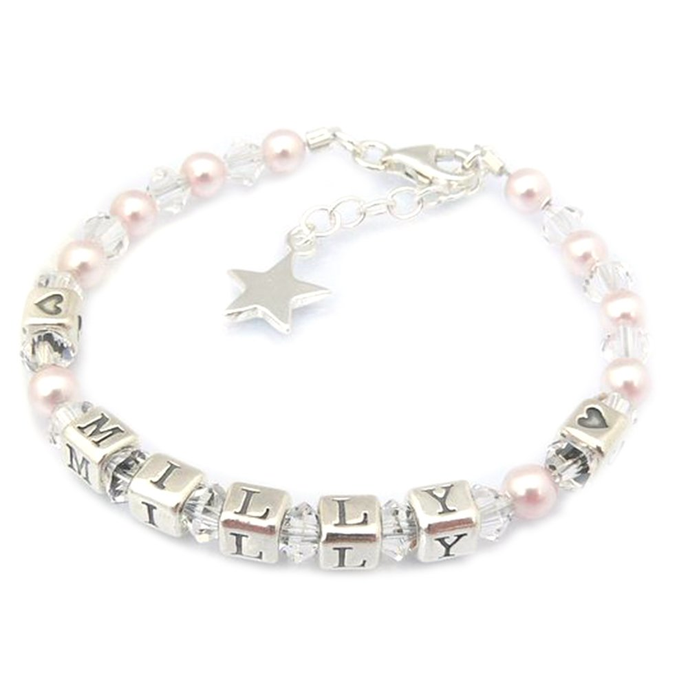 Twinkle Star Childrens Name Bracelet - Christening Gift - Boxed Occasions Emporium