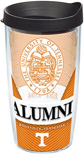(Tervis 1222322 Tennessee Volunteers Alumni Tumbler with Wrap and Black Lid 16oz, Clear)