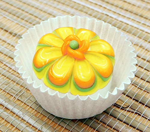 White Chocolate Lemon Cosmos Handmade Glass Candy
