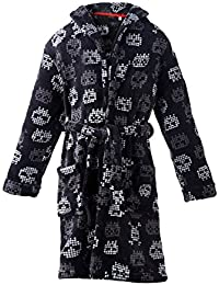 e927f932167 Boys Plush Fleece Robe Shawl Skull Printed Bath Robe Soft Bathrobe for Boy