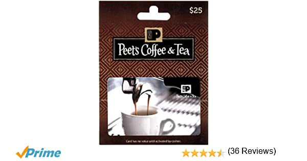 Amazon.com: Peet's Coffee & Tea $25 Gift Card: Gift Cards