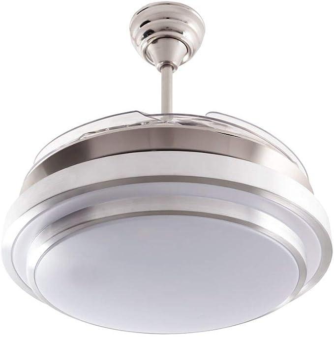 ACTiOLED 880021DC Ventilador de techo con luz led níquel satín ...