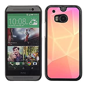 MOBMART Carcasa Funda Case Cover Armor Shell PARA HTC One M8 - Pink Colored Box Shapes