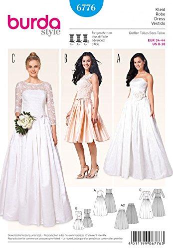Burda Ladies Sewing Pattern 6776 - Wedding Dresses & Underskirt ...