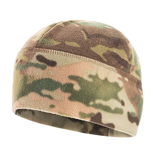 Windproof Fleece 380 Mesh Tactical Hat Watch Cap Skull Beanie (Camo, Medium)