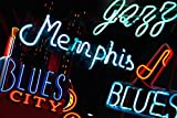 Neon Signs on Beale Street in Memphis Tennessee Photo Photograph Cool Wall Decor Art Print Poster 36x24