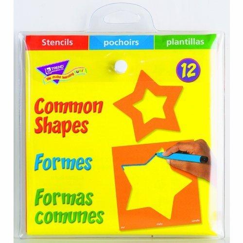 Trend Enterprises Common Shapes Stencils by Trend