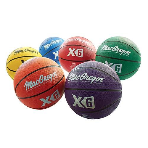 MacGregor Basketball Prism Pack, Official Size, Multicolor (Pack of 6) 93600