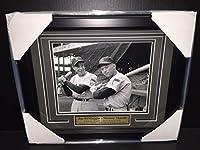 Mickey Mantle Joe Dimaggio Ebbets Field 1951 8x10 Photo New York Yankees Framed