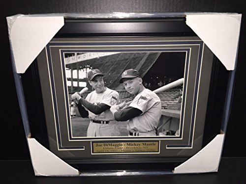 Ebbets Field Framed Photo - MICKEY MANTLE JOE DIMAGGIO EBBETS FIELD 1951 8X10 PHOTO NEW YORK YANKEES FRAMED