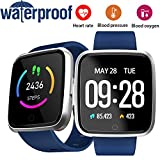 Fitness Tracker Sport Watch with Blood Pressure Heart Rate Monitor IP67 Waterproof SmartWatch for Men Women Kid 1.3 TFT Android iOS Activity Pedometer Bluetooth Phone Call Music Camera Halloween Gift For Sale