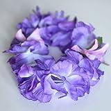 Premium Hawaiian Crown Lei- Paradise Petunia w/ Orchids in Purple
