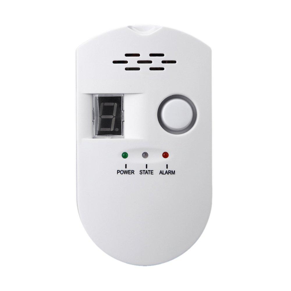 SODIAL Sensitive digital display flammable pipe alarm gas detector gas detector kitchen monitoring sensor US Plug by SODIAL (Image #2)
