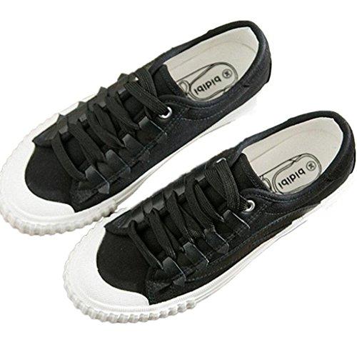 Canvas Fitness Confortevole Corsa 35 36 Black Scarpe Movimento Classic Xie White Black Tempo Libero Lady Daily Shoes Ping Studenti tPUqfwg
