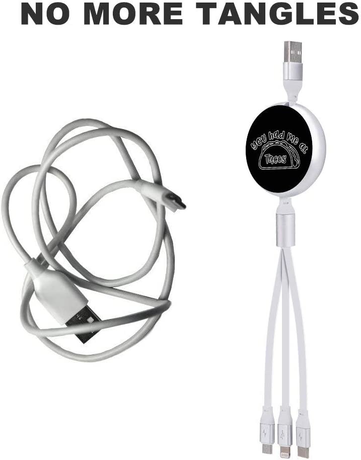 Circular Data Line You Had Me at Tacos Beautiful and Multifunctional Mobile Phone Data Cable 5.65.62.2cm