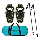 Lucky Bums Youth Snowshoes with Trekking Poles