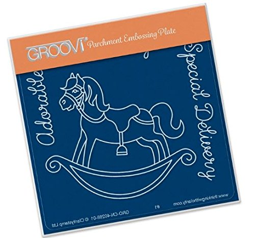 - Groovi Rocking Horse A6 Plate - Laser Etched Acrylic for Parchment Craft