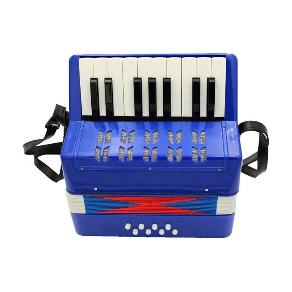 KJRJGQ Piano Children's Accordion Early Learning Musical Instrument Beginner 17 Keys 8 Bass Parenting Toys Mini Accordion Multicolor Optional ( Color : Blue ) by KJRJGQ