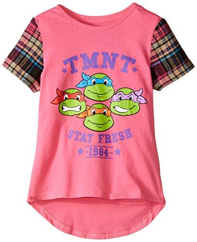 Teenage Mutant Ninja Turtles Little Girls' T-Shirt Shirt, Pink, 4 (Ninja Turtle For Girls)