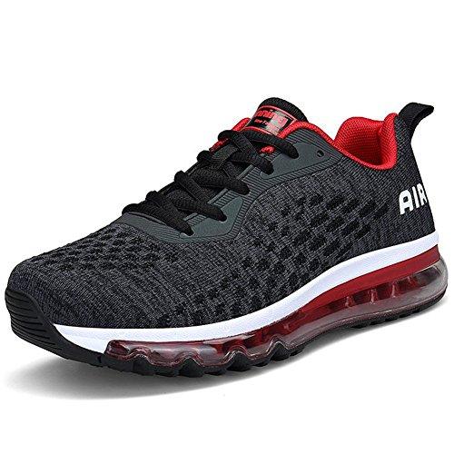 Running Fitness Rosso Scarpe Basse Uomo nero Donna Sportive Unisex happygo Ginnastica Shoes Casual Sneakers da AwqOf80