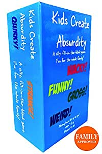 Kids Create Absurdity-A Silly Family Card Game-A Fill In The Blank Card Game That's Fun For Kids, Families, Game Nights, Partys, Adults- Huge Pack of 460 Quality Playing Cards