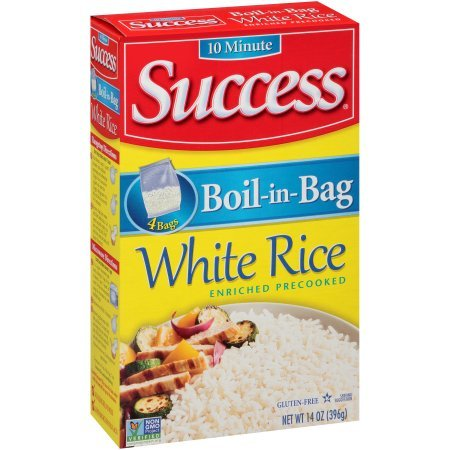 Success, Boil-In-Bag White Rice, 14 Oz (4 Boxes of 4 Count) by SUCCESS