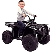Yamaha Grizzly 12-Volt Battery-Powered Ride-On (Black)