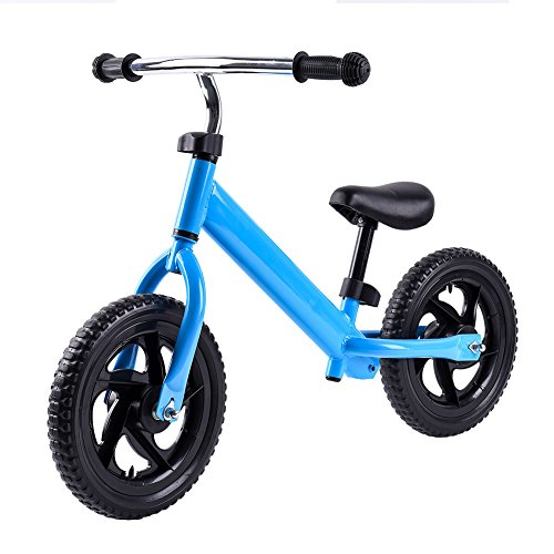 RUNACC Lightweight Balance Bike No Pedal Walking Bicycle Practical Balance Training Bike with Steel Frame, Adjustable Handlebar and Bike Saddle, Suitable for Children from 2 to 6 Years Old, Blue by RUNACC