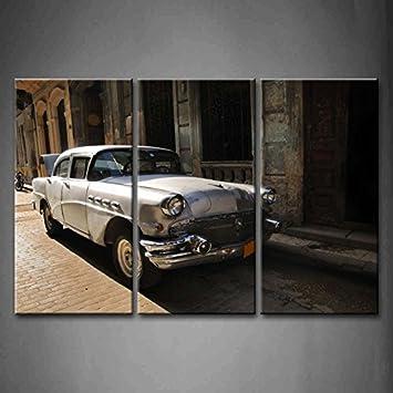 3 Panel Wand Kunst Vintage Klassisches Amerikanisches Auto In Den