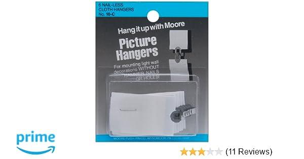 Amazon Picture Hangers 6pkg Nail Less Cloth Home Kitchen