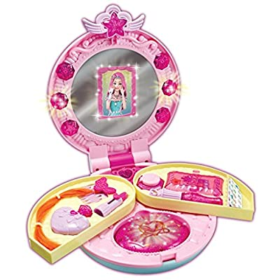 Secret JOUJU Mini Vanity with Mirror Youngtoys Makeup Make-up Princess Play Cosmetic Toy for Children Kids Makeup Kit: Toys & Games