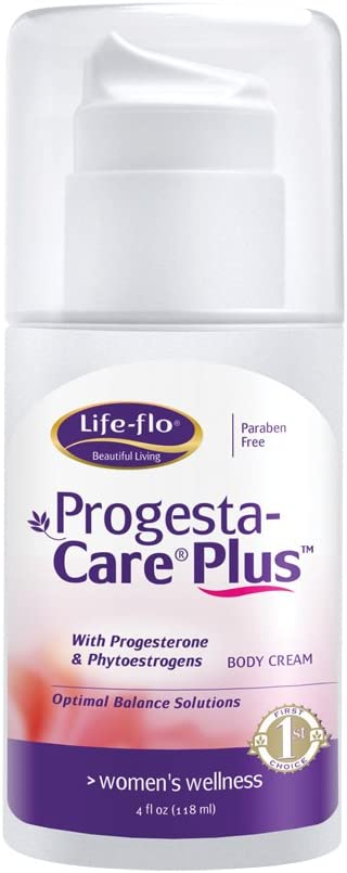 Life-Flo Progesta-Care Plus with Natural Progesterone USP & Phytoestrogens | Physician-Developed Body Cream for Optimal Balance | 4-oz Pump