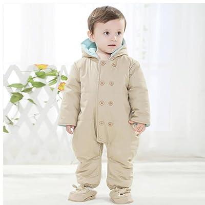 YINGER Combinaison de neige pour bébé Épais Hiver Coton Voyage Romper