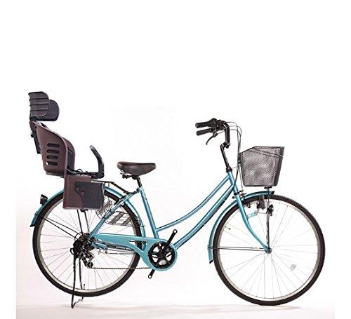 Lupinusルピナス 自転車 26インチ LP-266UD-KNRJ-BR 軽快車 シマノ外装6段ギア ダイナモライト 樹脂製後子乗せブラウン B073LQN9PZ ライトブルー ライトブルー