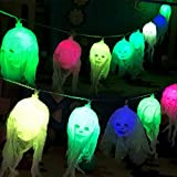WMFS Halloween Decorative String Lights, 8.2 FT 10 LEDs Skull Heads Holiday Light DIY Garden Yard Strings, Halloween Ghost lamp for Home Outdoor Indoor Decor (8.2 FT)
