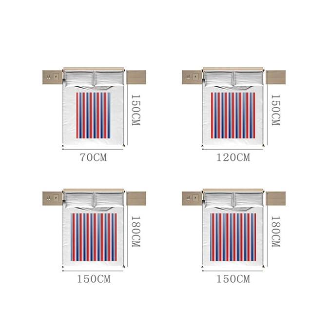Manta eléctrica, Single Double Multi-persona Single Control Apagado automático, sin radiación, Manta de calefacción para el hogar,150 * 70cm: Amazon.es: ...