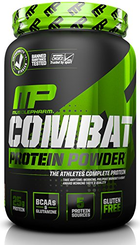 Muscle Pharm Combat Powder Advanced Time Release Protein, Chocolate Peanut Butter, 2 Pound