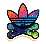 Adidas Trefoil Bone Splash Paint Logo Classic Original Decal Stickers