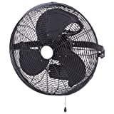 SCHAEFER TG18-3WB Tuff and Gusty 18'' 3 Speed Wall Mount, Blade Material: Aluminum, 1/4 hp, Black