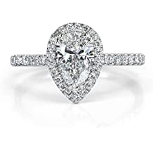 Mark Broumand 1.42ct Pear Shaped Diamond Engagement Ring