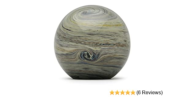 FREE SHIPPING to the lower 48 when you spend over $35.00 Glass Handmade Large Paperweight One-of-a-kind 4 wide Jupiter Glow