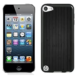 NEW Unique Custom Designed iPod Touch 5 Phone Case With Vertical Black Wood Beams_Black Phone Case